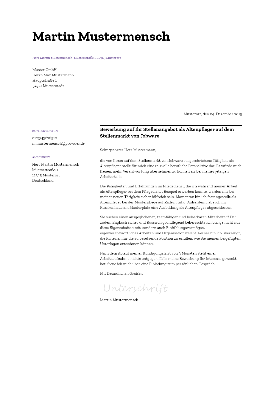 Bewerbungsvorlagen Als Maschinenfuhrer Bewerbung2go