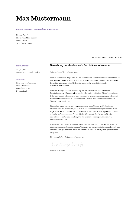 Bewerbungsvorlagen Als Zerspanungsmechaniker Bewerbung2go