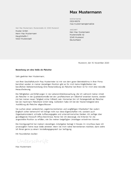 Bewerbungsvorlagen als Buchhalter Typographisch | bewerbung2go