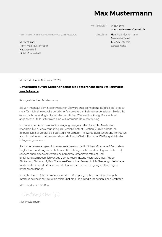 Bewerbungsvorlagen als Personalleiter   bewerbung2go