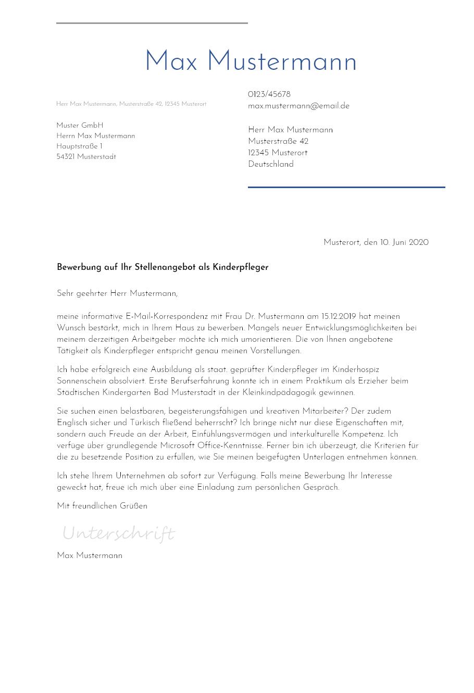 Vorlage bewerbung weiterführende schule Bewerbungsschreiben Schule