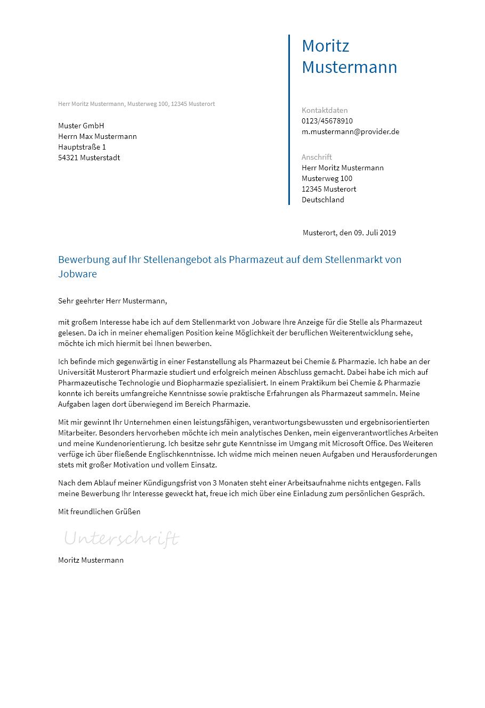 Bewerbungsvorlagen Als Pharmazeut Bewerbung2go