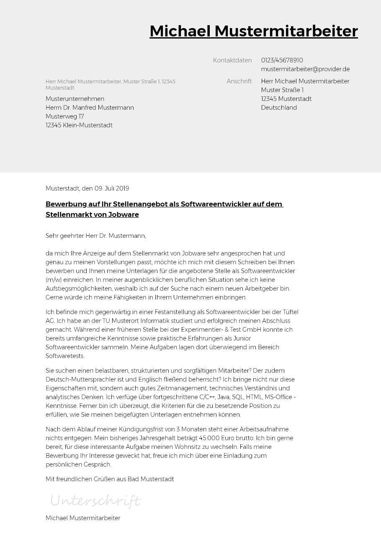 Bewerbungsvorlagen Als Ingenieur Im Fahrzeugbau Bewerbung2go