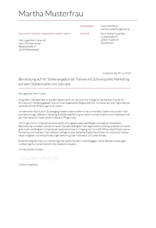 Bewerbungsvorlagen Fur 450 Euro Jobs Bewerbung2go