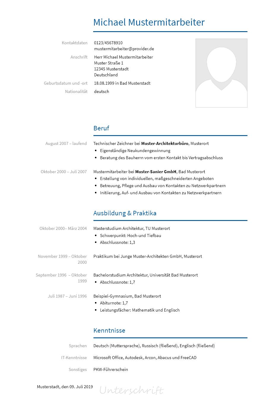 Bewerbungsvorlagen Als Architekt Bewerbung2go