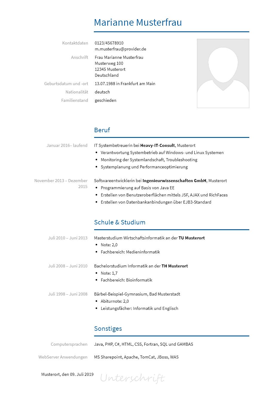 Bewerbungsvorlagen Als Informatiker Bewerbung2go