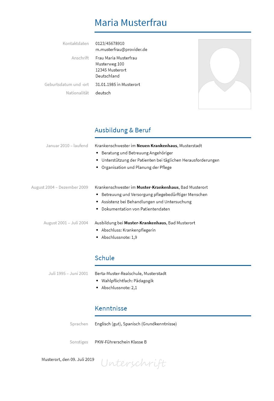 Bewerbungsvorlagen Als Krankenpfleger Bewerbung2go