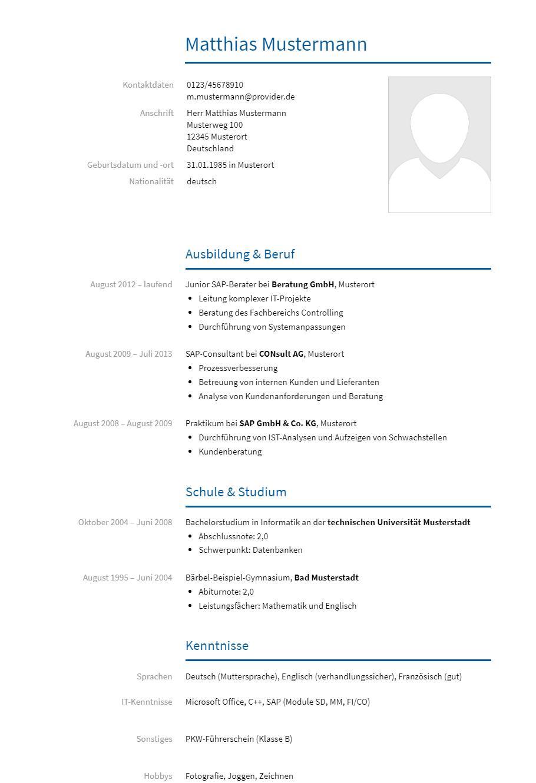 Bewerbungsvorlagen Als Sap Berater Bewerbung2go