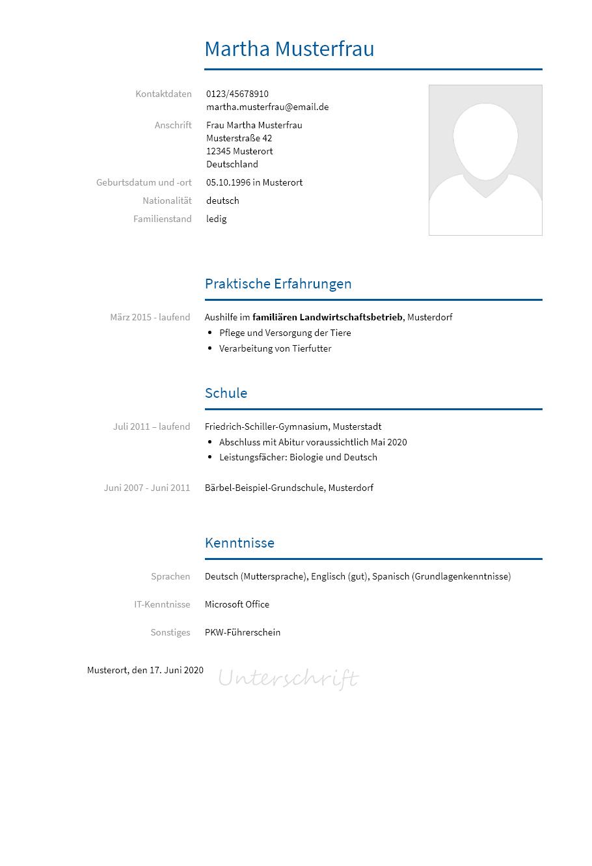 Bewerbungsvorlagen Um Ein Schulerpraktikum Bewerbung2go